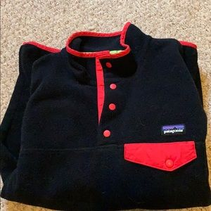 Black and red Patagonia fleece